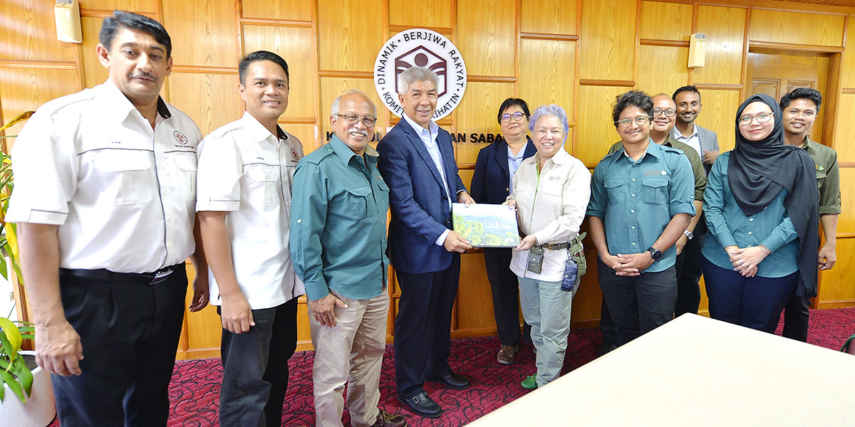 Courtesy call to Director of Yayasan Sabah by members of Tropical Rainforest Conservation & Research Centre | Menara Tun Mustapha | 17 June 2019