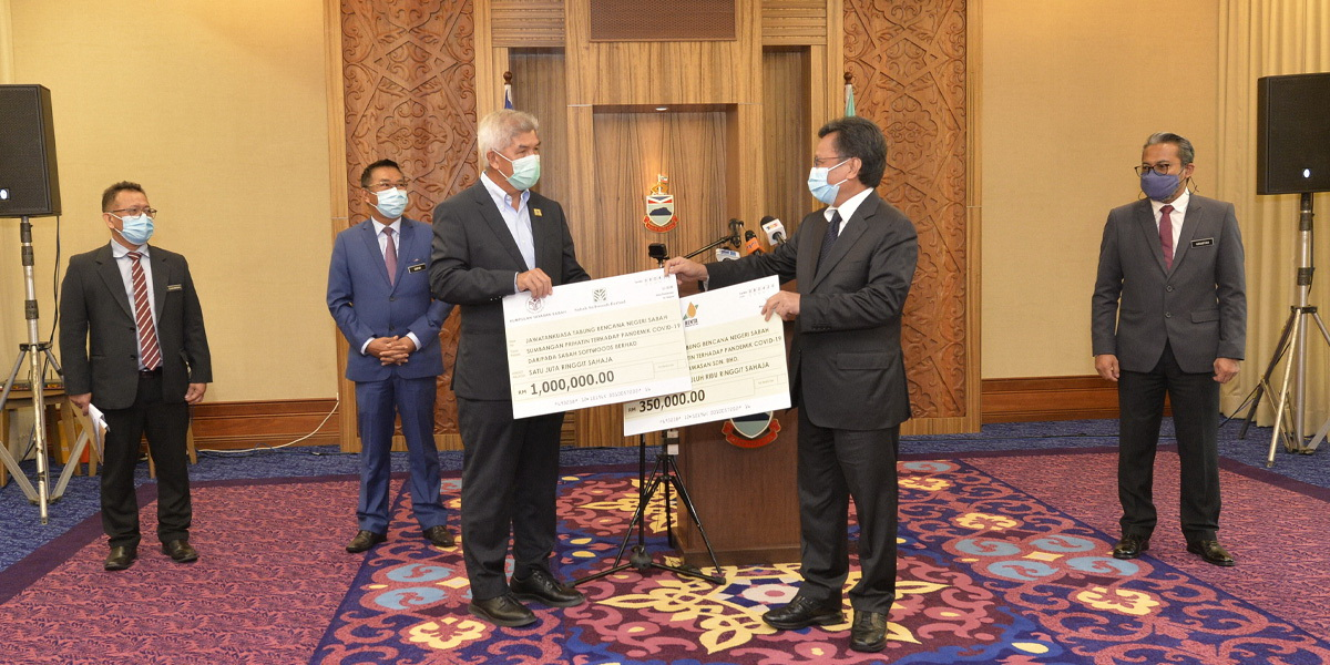 COVID-19 : Yayasan Sabah Group (SSB & BWSB) contributes RM1.35 million to Sabah State Disaster Fund Committee | PPNS | 8 April 2020