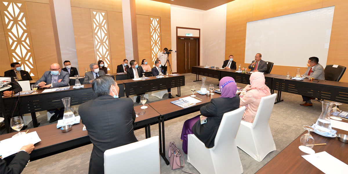 Briefing to YB Datuk Abidin bin Madingkir, Assistant Minister to the Chief Minister of Sabah| SICC | 9 April 2021