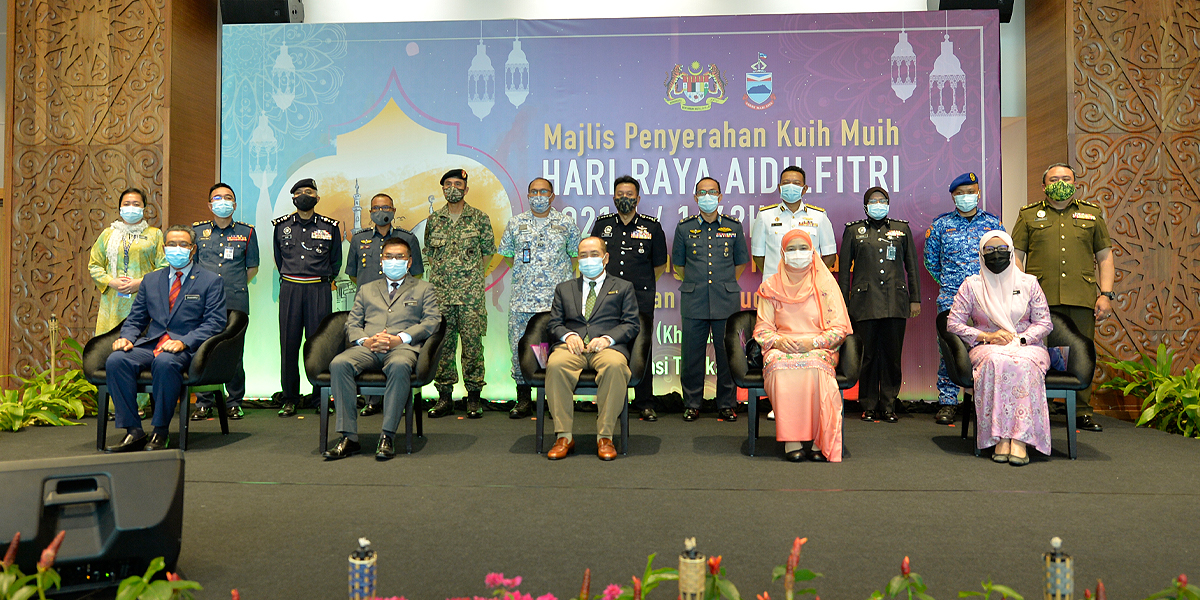 Handing over of Hari Raya Goodies to Security Forces and Medical Frontliners by Chief Minister of Sabah | PPNS | 29 April 2021